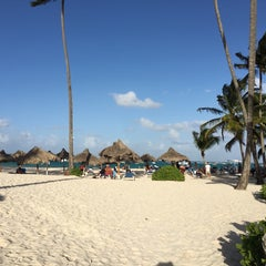 Photo taken at Los Corales Beach by Ricardo D. on 2/23/2016