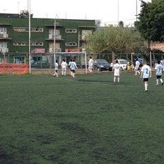 Photo taken at Cancha de Futbol de la Delegación Benito Juarez by Adolfo C. on 6/22/2013