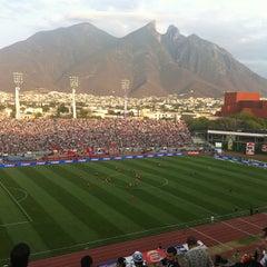 Photo taken at Estadio Tecnológico by Karina F. on 4/14/2013