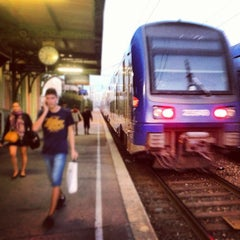 Photo taken at Gare SNCF de Nice Saint-Augustin by Martin T. on 10/3/2012