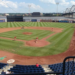Photo taken at Modern Woodmen Park by Jacob S. on 7/14/2013