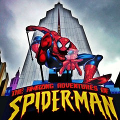 Photo taken at The Amazing Adventures of Spider-Man by David F. on 1/4/2013