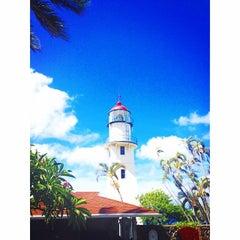 Photo taken at Diamond Head Lighthouse by Mariko H. on 7/23/2014