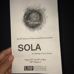 Photo taken at USF Theatre 2 by Fernando C. on 8/30/2014