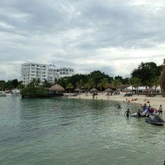 Photo taken at Bluewater Maribago Beach Resort by Daisuke T. on 9/8/2013
