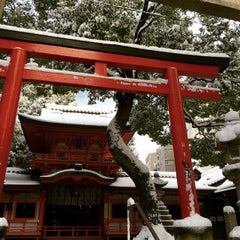 Photo taken at 春日神社 by Rie O. on 12/17/2014