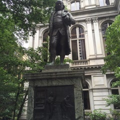 Photo taken at Benjamin Franklin Statue by Ken S. on 7/26/2015