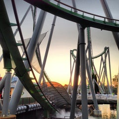 Photo taken at The Incredible Hulk Coaster by Paige on 3/17/2013