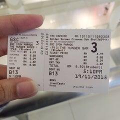 Photo taken at Golden Screen Cinemas (GSC) by Farhana I. on 11/19/2015