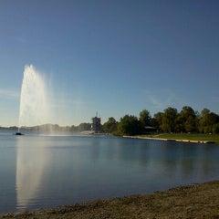 Photo taken at Ada Ciganlija by Sinisa R. on 10/18/2012