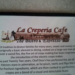 Photo taken at La Creperia Cafe by Dave M. on 4/19/2013