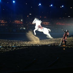 Photo taken at Medieval Times Dinner & Tournament by Jill O. on 1/6/2013