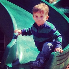 Photo taken at Memorial Park Playground by Matt M. on 4/20/2014