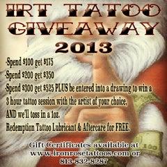 Photo taken at Iron Rose Tattoos by Iron Rose Tattoos on 12/11/2013