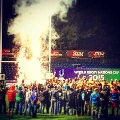 "Photo taken at Stadionul Național de Rugby ""Arcul de Triumf"" by Horia U. on 6/21/2015"