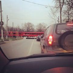 """Photo taken at Переезд """"Новодачная"""" by Кирилл В. on 11/22/2012"""