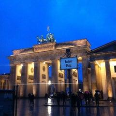 Photo taken at Pariser Platz by Quinten B. on 1/4/2013