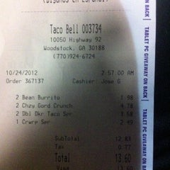 Photo taken at Taco Bell by Matt B. on 10/24/2012