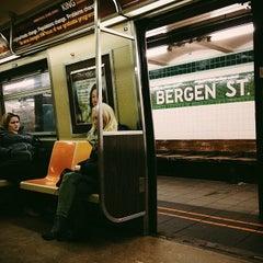 Photo taken at MTA Subway - Bergen St (F/G) by Courtney T. on 12/19/2013