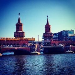 Photo taken at Oberbaumbrücke by GNTB German National Tourist Board w. on 5/11/2013