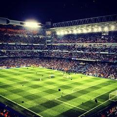 Photo taken at Estadio Santiago Bernabéu by Óscar G. on 4/30/2013