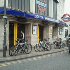 Photo taken at South Wimbledon London Underground Station by Harold D. on 5/10/2013