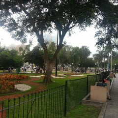 Photo taken at Parque Kennedy by Serge on 4/30/2013