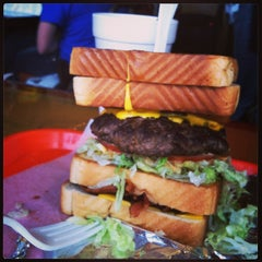 Photo taken at Burger Barge by Andrea S. on 2/23/2013