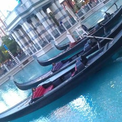 Photo taken at Venetian Canal by Tina V. on 4/8/2013
