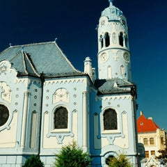 Photo taken at Kostol sv. Alžbety (Modrý kostolík) by Oleksandr S. on 10/2/2015