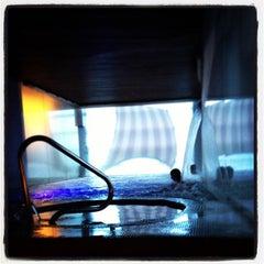 Photo taken at Scandinave Les Bains Vieux-Montréal by Max F. on 12/26/2012