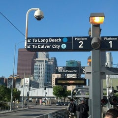 Photo taken at Pico (Chick Hearn) Metro Station by Ashley H. on 5/30/2013