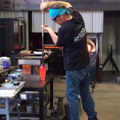Photo taken at Morean Glass Studio & Hot Shop by Heather R. on 12/20/2013
