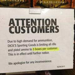 Photo taken at Dick's Sporting Goods by Derek P. on 2/15/2013