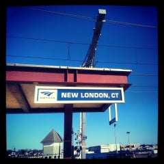 Photo taken at New London Union Station by Heather C. on 4/6/2013