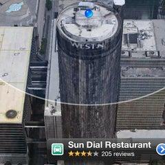 Photo taken at Sun Dial Restaurant, Bar & View by Hajji M. on 11/23/2012