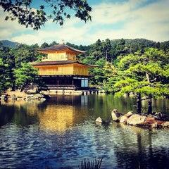 Photo taken at 北山 鹿苑寺 (金閣寺) (Kinkaku-Ji Temple) by Alejandro Q. on 9/29/2013