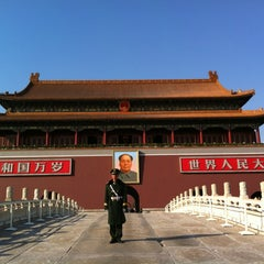 Photo taken at 天安门广场 Tian'anmen Square by Piyanuch T. on 3/10/2013