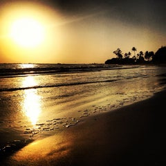 Photo taken at Morjim Beach by Sergey R. on 4/24/2013