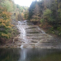 Photo taken at Buttermilk Falls State Park by stephanie g. on 10/13/2013