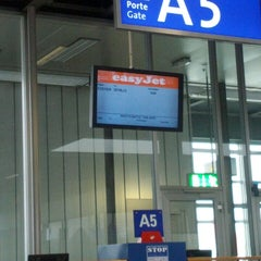 Photo taken at Gate A5 by Antonio F. on 2/21/2013