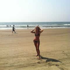 Photo taken at Morjim Beach by Tamara on 1/28/2013