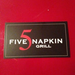Photo taken at 5 Napkin Grill by Maurice W. on 5/7/2013