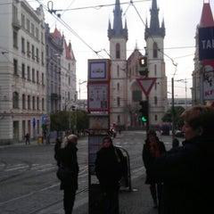Photo taken at Strossmayerovo náměstí (tram) by Andrejka H. on 11/22/2012