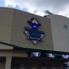 Photo taken at Whitaker Bank Ballpark by Sherry R. on 6/11/2015