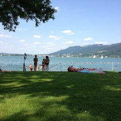 Photo taken at Strandbad Bregenz by Julia K. on 7/13/2013