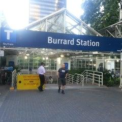 Photo taken at Burrard SkyTrain Station by Nilufa O. on 7/16/2013