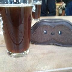 Photo taken at Oakshire Brewing by Elizabeth V. on 4/13/2013