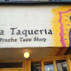 Photo taken at La Taqueria by John D. on 2/19/2013