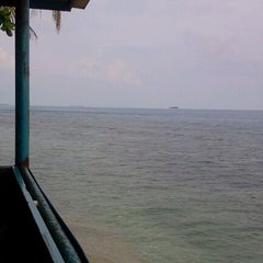 Photo taken at Gazzebo Pinggir Laut by firmana A. on 10/19/2012